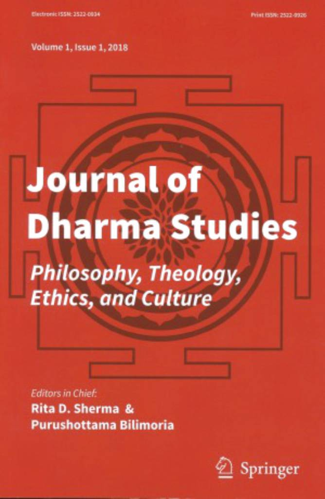 Journal of Dharma Studies- Vol. 1 No. 1 (2018)-front.jpg